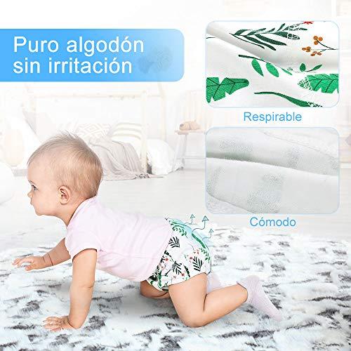 Lictin Pantalones de Entrenamiento para Bebé- Pañal de Aprendizaje para Bebés con 4 Ropa Interior Pantalones de Entrenamiento Orinal y 2 Reutilizables Pañales de Tela Talla (2-3 años)