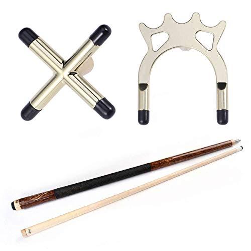 LIOOBO 2 Unids Snooker Billar Cue Racks Puente Cabeza Tenedores de la Cruz Astas de Rod Pool Cue Stick Tenedores Mesa de Billar Accesorio