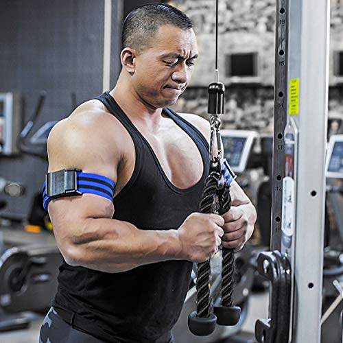 LIOOBO Polea Fitness Set Bicep Tricep Pull Rope Arm Strenger Trainer Equipo de Entrenamiento para Gimnasio Home