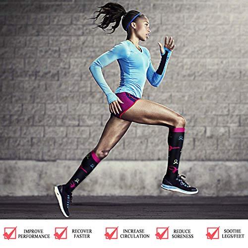 Litthing 3/5/8/14 pares Calcetines de Compresión de Nylon hasta Rodilla Deportes para Mujeres y Hombres para Baloncesto Fútbol Correr Escalar Montaña (C (3 Pares), S/M)