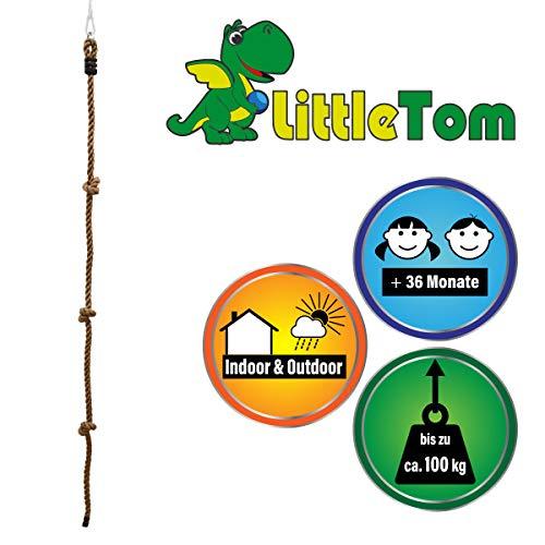LittleTom Cuerda de Escalada Juguete para niños 195 x 2,5 cm Deporte Naturaleza