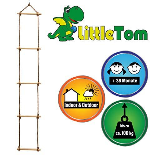 LittleTom Escala de Cuerda 188x30 cm Escalera de Mano para niños Naturaleza