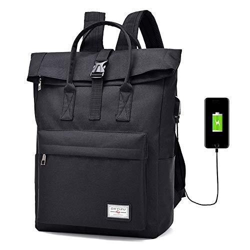 Lixada Mochila Casual Impermeable Antirrobo con Puerto USB Mochila de Ordenador Portátil de Negocios Mochila Viaje