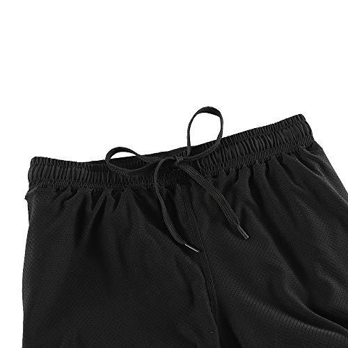 Lixada Mujeres Pantalónes Cortos Deportivos 2-en-5 Transpirable Pantalones+Secado Rápido para de Running Fitness Yoga