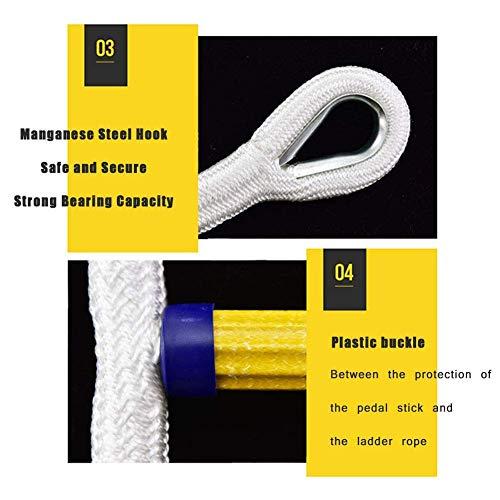 LJNAB Rápido y fácil de implementar Salida de Incendios 6M urgencia de Cuerda de Seguridad Flexible y Funcional - Compacto y fácil de almacenar - Reutilizable