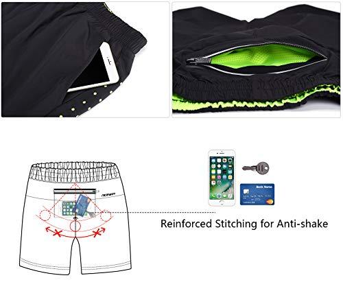 """LOHOTEK Hombres 7"""" Pantalones Cortos para Atléticos - Pantalones Cortos de Gimnasio de Secado Rápido y Ligeros para Entrenamiento de Baloncesto de Tenis al Aire Libre (Negro, S)"""