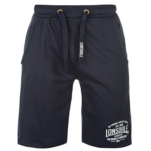 Lonsdale - Pantalones cortos de boxeo para hombre, pantalones deportivos azul marino S