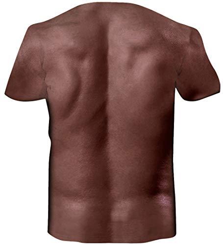 Loveternal Músculo Abdominal T-Shirt 3D Impreso Verano Ocasional de Manga Corta para Mujeres Hombres XXL