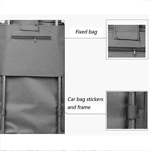 LQBDJPYS - Carro de carril de coche para escaleras, carrito de compras plegable, para equipaje de anciano, con barra de tirar, portátil, color A,
