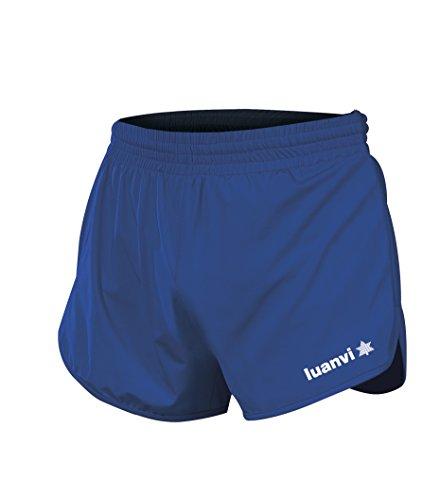 Luanvi Gama Pantalones Cortos de Atletismo, Hombre, Azul Royal, S