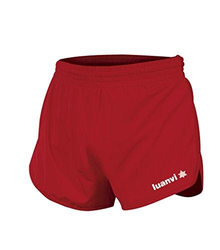 Luanvi Gama Pantalones Cortos de Atletismo, Hombre, Rojo, M