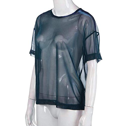 Luckycat Camisetas Transparentes De Mujer Camisetas Mujer Manga Corta Camisetas Mujer Verano Blusa Mujer Sport Tops Mujer Verano Camisetas Mujer Manga Corta Blusa Transparente Mujer Fiesta