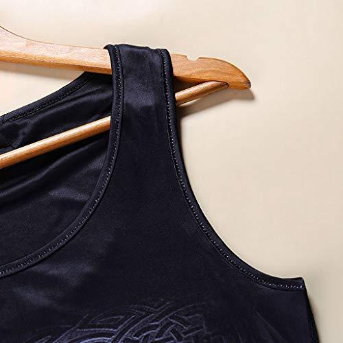 Luckycat Mujeres Deporte Camiseta de Tirantes, Gótica Sin Mangas diseño de Impresión 3D Gato Superior corsé Disfraz de Tank Tops Chaleco Tanque Superior corsé Disfraz de Camiseta de Tirantes
