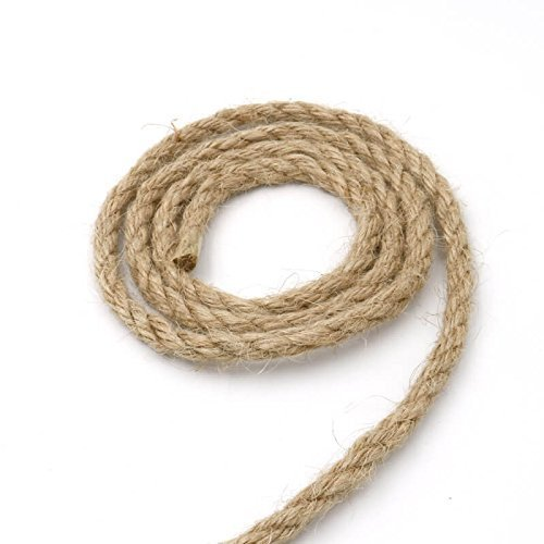 LUOOV 100% cuerdas de cáñamo Natural Cord 20m (64ft) Multicolor / Natural