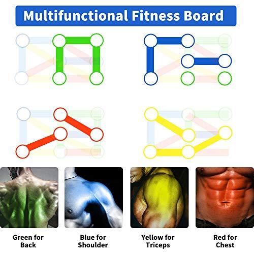 LUOWAN - Sistema de tabla de empuje plegable 14 en 1 para hacer ejercicio en el hogar, entrenamiento o ejercicio, soporte multifunción, portátil, para hombres y mujeres, entrenamiento en casa