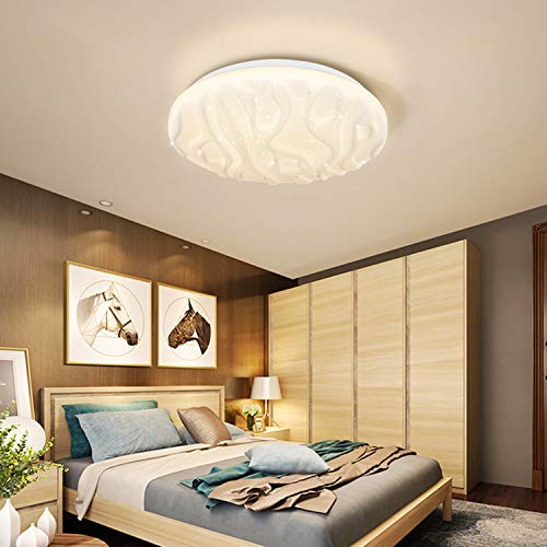 LUSUNT LED Lámpara de Techo Luz de Techo Dormitorio LED Habitación Luz para Baño Cocina Balcón Pasillo Impermeable Blanco Natural 18W 4000K 1500lm