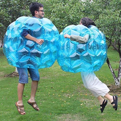 LuukUP Bumper Ball Bubble Ball Bola de Burbuja Inflable de Cuerpo de Parachoques para Adultos y Niños,Juego Inflable al Aire Libre,90cm (Púrpura)
