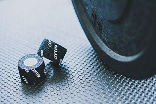 LYFT-RX Weight Lifting Hook Grip Tape con la Mejor Calidad Adhesivo 3 Unidades Protege los Pulgares y Dedos | Cinta Flexible para Levantar Pesas, Entrenamiento Cross, Levantadores de Pesas Olimpicos