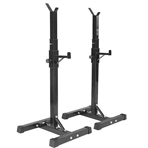 LYzpf Silla de Fitness Squat Barbell Rack Hogar Press de Banca Cama Jaula de Sentadillas Ajustables Entrenamiento de Fuerza Equipo de la Aptitud
