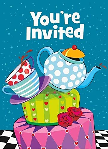 Mad Hatter Tea Party - Vajilla Decorativa (día de la Madera), diseño de Alicia en el país de Las Maravillas