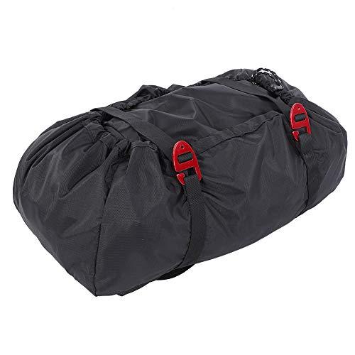 MAGT Cuerda de Alpinismo Bolsa, Equipo de Escalada Bolsa de montañismo del Hielo Que Sube Oxford Mochila con la Cuerda Mat for Acampar al Aire Libre Senderismo (Color : Black)