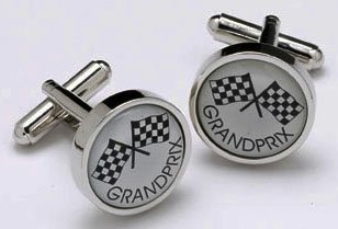 Mancuernas de la novedad del Grand Prix Racer en caja de regalo
