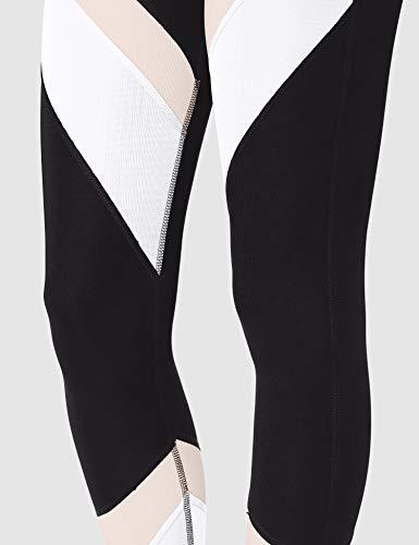 Marca Amazon - Aurique Leggings deportivos para Mujer, Negro (Black/Blush/White), 38, Label:S