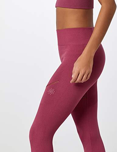 Marca Amazon - AURIQUE Mallas de Deporte sin Costuras Mujer, Rosa (Hawthorne Rose), 38, Label:S