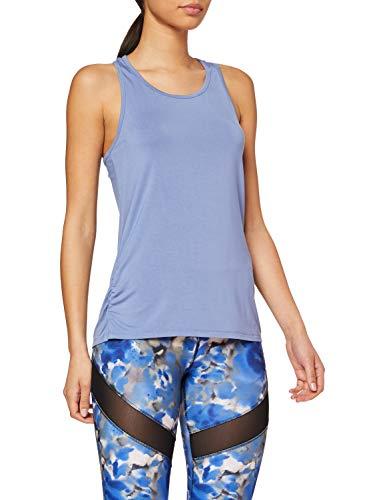 Marca Amazon - AURIQUE Top de Deporte Súper Suave Mujer, Azul (Colony Blue), 38, Label:S