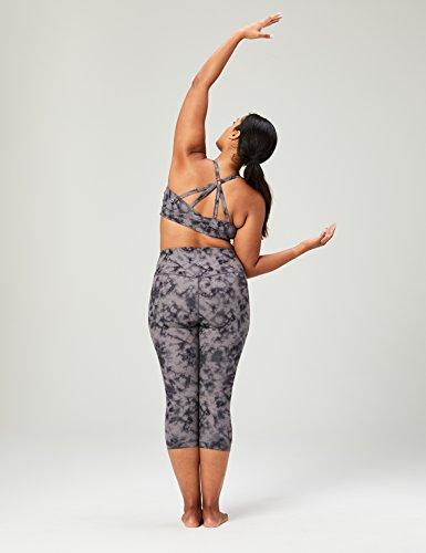 Marca Amazon - Core 10 - Icon Series -Sujetador deportivo Ballerina para mujer (XS-3X), Negro (black/grey tie dye), US M (EU M - L)