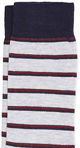 Marca Amazon - find. Calcetines Hombre, Pack de 7, Multicolore (Stripes and Dot Print), 39-43.5 EU, Label: 6-9.5 UK