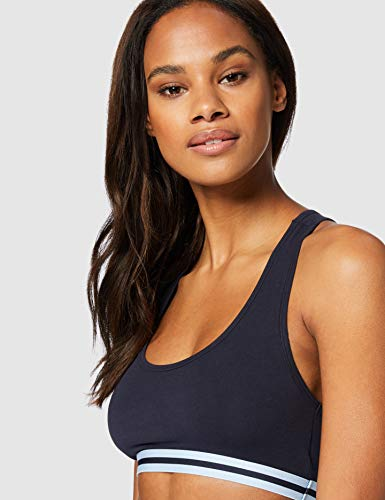 Marca Amazon - Iris & Lilly Belk018m2 - Racer Back Top Mujer, Multicolor (Night Sky With Cashmere Blue /melange With Night Sky), XL, Label: XL