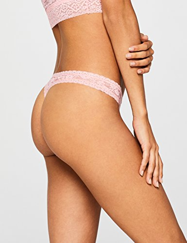 Marca Amazon - Iris & Lilly Belk034m2 - Thong Mujer, Multicolor (Pink/Black), S, Label: S