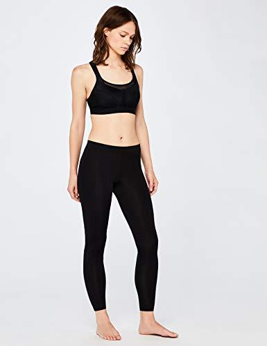 Marca Amazon - IRIS & LILLY Sujetador Deportivo de Alto Impacto Mujer, Negro (Black), 85E, Label: 32DD