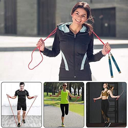 MARSACE Comba Crossfit Cuerda Saltar Profesional Ajustable Combas Hombre y Mujer Comba de Boxeo Speed Rope para Entrenamiento Funcional