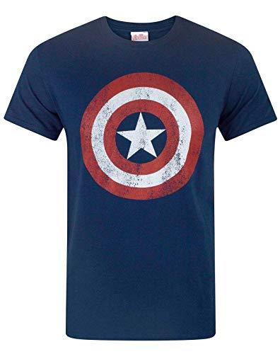 Marvel Capitan America - Camiseta para Hombre - Talla L