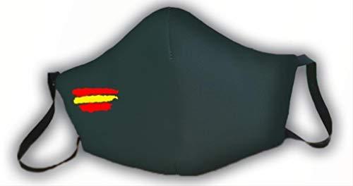 Mascarilla verde protectora homologada bandera de España 3 capas