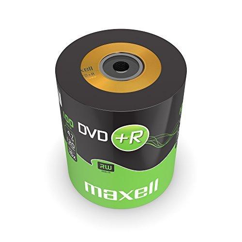 Maxell DVD+R - DVD+R vírgenes (4.7 GB, 120 Minutos, 100 Unidades)