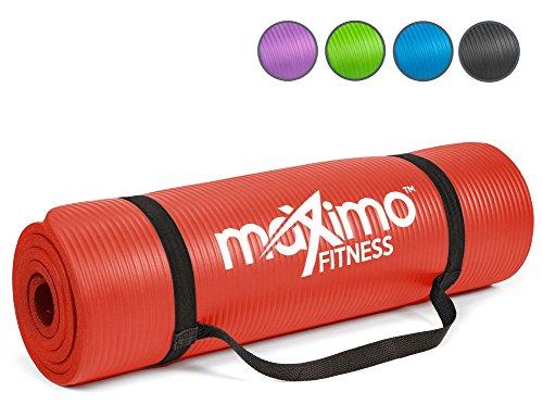 Maximo Fitness Colchoneta de Ejercicios - 183cm de Longitud x 60cm de Ancho x 1,2cm de Grosor. (Red)