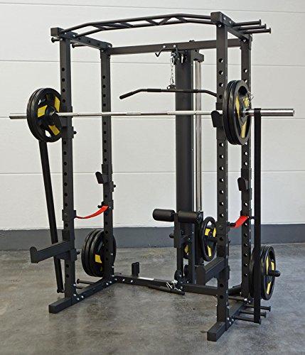 Maxxus® Power Cage en Extremadamente Solider, profesional acabado/Incluye poleas y banco multifunción/5años de garantía
