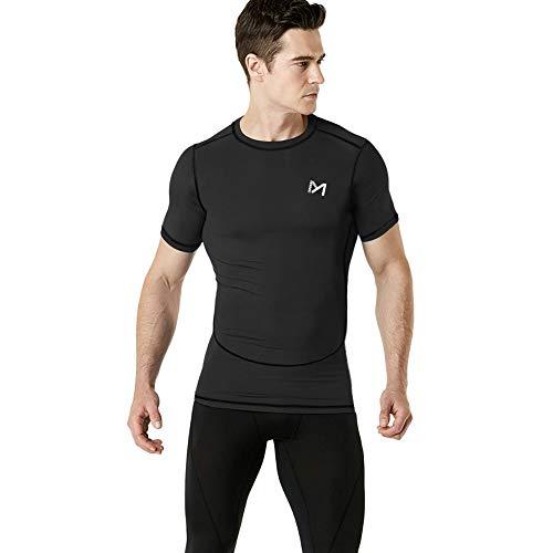MEETYOO Camiseta Compresion Hombre, Manga Corta Camisetas Ropa Deportiva para Running Gym Ciclismo