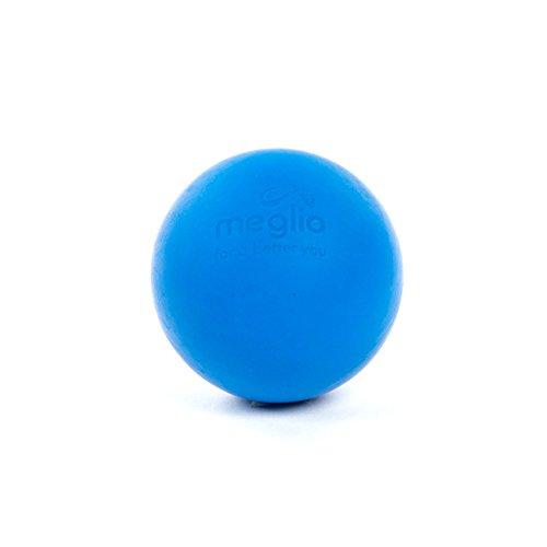 MEGLIO Bola de Lacrosse Masajes de Puntos Gatillo, Rehabilitación, Fisioterapia, Bola de Masaje de Tejido Profundo para Liberación Miofascial (Azul)