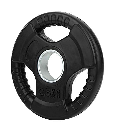 Meiyya Eightlifting Slice Barbell Piece, Resistente al Desgaste 2.5KG / 5KG / 10KG / 15KG / 20KG Disco de Levantamiento de Pesas Antideslizante, Ejercicio de sentadilla de(2.5KG)
