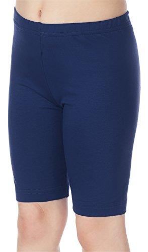 Merry Style Leggins Mallas Pantalones Cortos Ropa Deportiva Niña MS10-132 (Azul Marino, 128 cm)