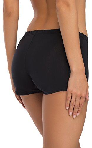 Merry Style Shorts Bañadores Deportivos Trajes de Baño Mujer Modelo L23L1 (Negro (9240), 40)