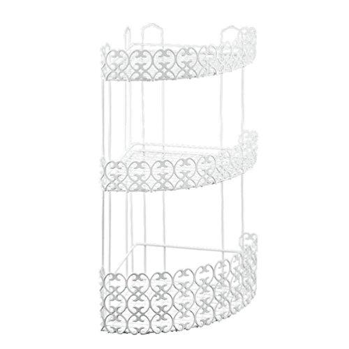 Metaltex Florenz - Repisa para baño en Esquina (3 estantes), Color Blanco