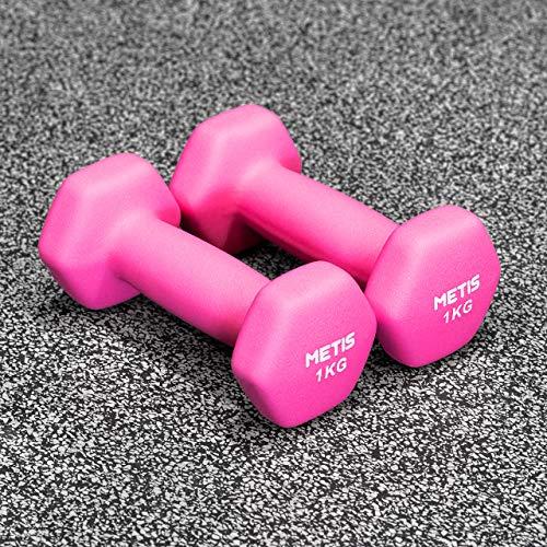 METIS Mancuernas │ Pesas │ Ejercicio en Casa │ Musculación y Fitness (7kg)