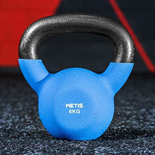 METIS Pesas Rusas Kettlebells │Mancuernas │ Ejercicio en Casa │ Musculación (4kg)