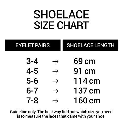 Miscly Cordones Ovalados [3 Pares] Para Todo Tipo de Zapatos y Zapatillas – Diámetro 6 mm (137 cm, Negro)