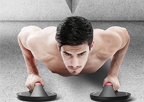 ML Soporte Agarrederas para Flexiones giratorias Forma de Disco para Hacer Ejercicio musculacion Fitness- Pesas Gimnasio en casa Brazos Pecho Abdominales